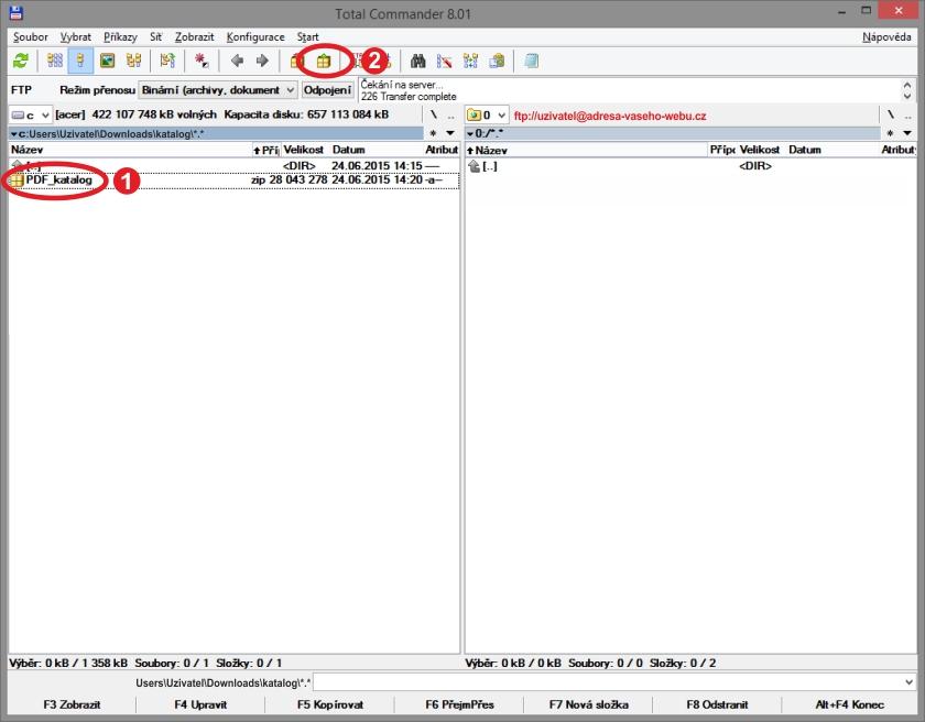 Jak umístit listovací katalog